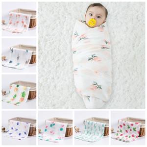 Muslin Baby Blankets Soft Swaddle Wrap Organic Cotton Baby Bath Towel Cart Nurse Cover Bedding Sheet Newborn Photography Accessories DW4656