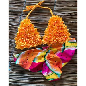 Brazilian Biquini Mujer Tow Pieces Bikini Set 2020 Sexy Swimwear Women Swimsuit Halter Bathing Suits Beach Wear Swim Print MX200613