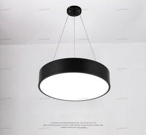 Round luce di pendente moderna Minimalismo LED Lampadari nero apparecchi di illuminazione per l'ufficio Studio Camera Soggiorno Camera da letto AC85-265V