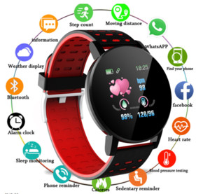 2020 New D18 und bunte Touch Screen 3D-Sport-Uhr-Pedometer Smart Watch Fitness Herzfrequenzmesser Frauen Uhr Smartwatch