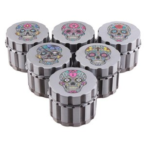 Colorful Skull 55MM Zinc Alloy Dry Herb Tobacco Grind Spice Miller Grinder Crusher Grinding Chopped Hand Muller High Quality Smoking Holder