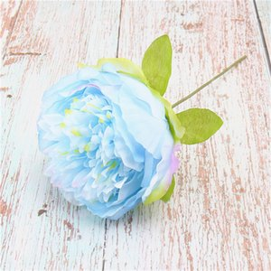 2019 New European-style handheld peony flower head simulation wedding photography props peony flowers silk flowers party supplies