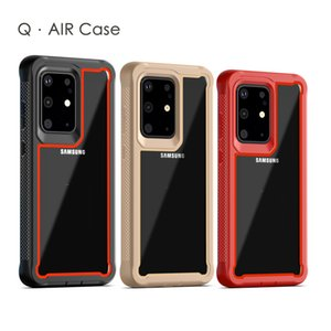 Clear Hybrid 2 In 1 Shockproof Case For Samsung S20 Plus Ultra A10S A20S A10E A20E A51 A71 A21 LG Stylo 6 K51 K31 MOTO G8 Play Plus G Stylus