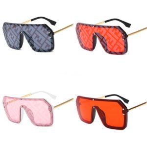 LeonLion 2020 Cat Eye Gradient Lens Double F Sunglasses Women Retro One-Piece Mirror Rimless Sun Glasses Vintage Travel Eyewear UV400#699