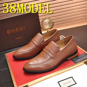 Size 6-11 Spring Autumn Mens Penny Loafers Genuine Leather Hand Painted Slip On Dress Shoes Men Wedding Casual Business Shoes