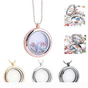 30mm DIY Jewelry transparent glass frames floating charm lockets pendants
