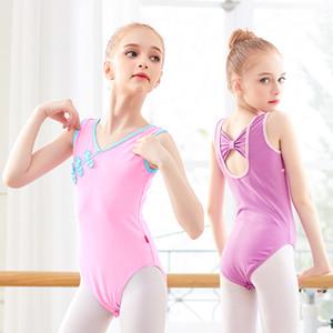 여자 어린이 댄스 바디 수트 핑크 어린이 체조 레오타드 유아 중국 스타일 버튼 댄스웨어에 대한 발레 레오타드
