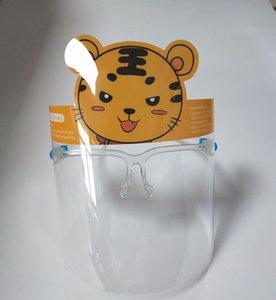الأطفال شفافة واقية قناع مضاد للقطيرة سبلاش PET الوجهين فيلم المضادة للضباب مقابل حقيبة المستقلة التغليف EEA1849