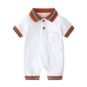 INS Summer Baby romper baby boys rompers newborn rompers cotton short sleeve infant jumpsuit baby boy clothes retail B1647
