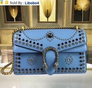 libobo4 2019 400249 Top BLUE BAGS LEATHER WOMAN BAG HANDBAG Hobo HANDBAGS TOP HANDLES BOSTON CROSS BODY MESSENGER SHOULDER BAGS