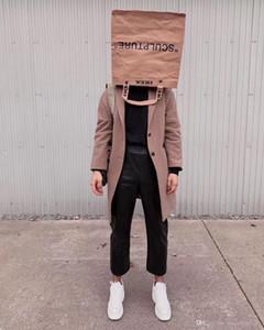 Çanta Erkekler Ve Kadınlar Çanta Saklama Poşetleri Taşıma Toptan Marke Ortak Kraft Kağıt Torba Shooping Bez Çantalar OW Alışveriş Çantası Ins Çift Sokak