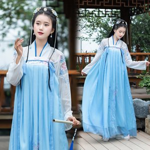 Fm9fM Hsing Yun Qi chest traditional modified Student Embroidery clothing clothing summer style female student dress Chinese style Chinese e