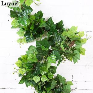 Luyue 2.2M Künstlicher Efeu Blatt Garland Simulation Weinblätter Weinpflanzen Rattan Gefälschte Laub Blumen Gefälschte Grünpflanze