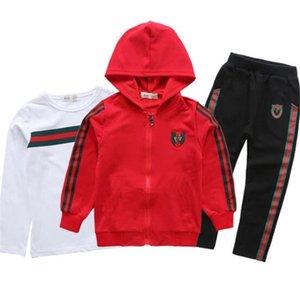 Costume filles Vêtements enfants Set manteau pour enfants T chemise pantalon 3Ps Set New School Automne Adolescent Sport Costumes Uniforme