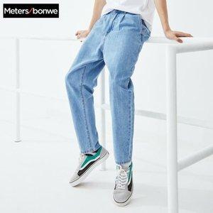 Metersbonwe delgadas jeans para hombres Primavera Verano 2020 Nueva Casual jóvenes vaqueros de la tendencia de los hombres de nabo pantalones pantalones 757357