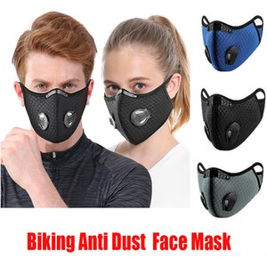 Anti Biking Dust Bike Face Mask Activated Carbon Riding Cycling Running Cycling Anti-Pollution Activated Carbon Mask With Filter OPP Bag