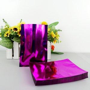 14*20cm 100pcs lot Purple Colors Vacuum Bags Open Top packaging Heat Seal Aluminum Foil Plain Pocket Pouches