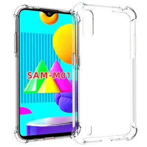 Shock Absorption Clear transparent TPU with Four Corner Protective Case Cover for SAMSUNG Galaxy M01 M10 M20 M30 M30S M40S M31