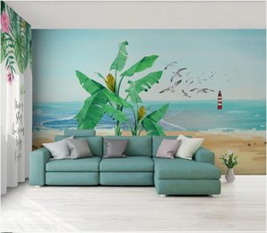 WDBH 3d wallpaper custom photo Tropical plant banana leaf animal background wall paper mural canvas pictures home decor wall art 3d stickers