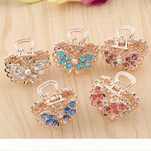 wholesale hairclips crystal hair jewelry women clamps gold color crown bow hairpin barrettes for girls