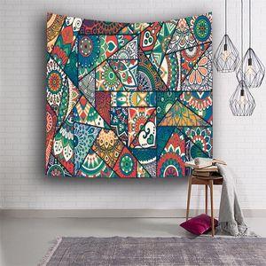 Poliestere Tapestry Flower Stampa di yoga stuoia di picnic del tovagliolo di stampa Tapestry Hanging ARAZZO Home Decor 8 colori DHB930