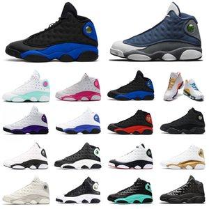 air jordan retro 13s Мужчины Баскетбол обувь 13 Jumpman Flint Hyper Royal Aurora Green площадка Phantom Black Cat Women Мужские Тренажёры Спорт Кроссовки