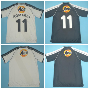 2000 2001 Футбол Vintage 11 ROMARIO ретро Джерси DEDE Луизао PAULO MIRANDA Жуниньо Донизете MATCH WORN Черный Белый футбол рубашка наборы D-J-M