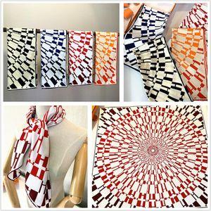 2020 new diamond circular geometry crimping painting 90cm*90cm Hand hemming silk twill scarf square scarves sunscreen Printed Female shawl