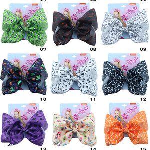 8 Inch Jojo Siwa Hair Bows Baby Girl Hair Clip Hallowmas Pumpkin Design Hairclip Hairpin for Girls JOJO Bow Barrettes Hair Accessories Gift
