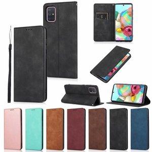 PU Leather Flip Stand Card Slots wallet Magnet Buckle Case for Samsung Galaxy A31 A51 A71 A41 A11 A21 A70E A20 A30 A50 A10S A70S A20E