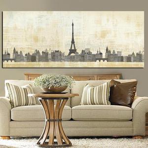 Аннотация Париж Effiel башня Французского города Строительство стена искусство Картина Картина стена искусство для гостиной Home Decor (без рамки)