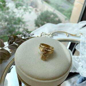 2020 fashion summer retro titanium steel ring lock ring European and American fashion ring for men and women