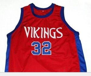 # 32 VIKINGS M. JOHNSON LİSESİ Koleji Basketbol Jersey Boyut S-6XL Vintage veya özel herhangi bir ad veya numara forması Custom Erkekler Gençlik kadınlar