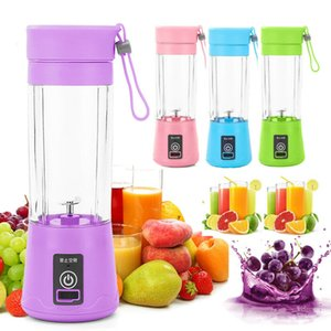 Portable USB elétrico do fruto Juicer Handheld suco de vegetais Criador Blender recarregável Mini Juice Fazendo Copo Com carregamento CableDHD610