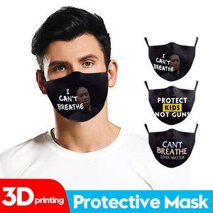 I Cant Breathe Face Mask Black Lives Matter Designer Mask Summer Outdoor Protective PM2.5 Washable Mask DDA154