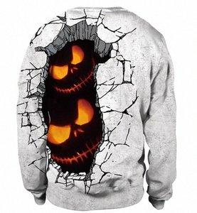 남성 여성 풀오버 후드 호박 머리 인쇄 Holloween 파티 의상 운동복 연인 재미 패턴 스웨터 최고 xykV 번호