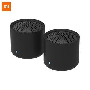 الأصلي XIAOMI MI صحيح رئيس ستيريو لاسلكي 2 حزم المحمولة بلوتوث 5.0 مكبرات الصوت عالية الوضوح مع MIC يدوي