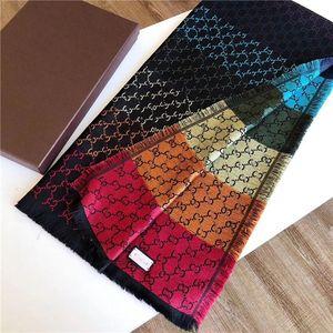 Lo stilista sciarpa popolare sezione lungo inverno sciarpa di lana sciarpe marchio Tide uomo e la donna scialle sciarpa di modo