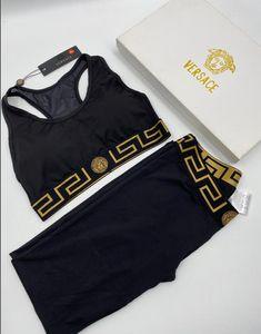 2pcsLouis Vuitton Esporte Suit Mulheres Long Sleeve Yoga Set Patchwork Gym Roupa Workout Academia Top Curto cintura alta Seamless Leggings
