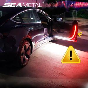 12V LED Car Door Light Auto Strobe Warning Streamer Lights Night Door Open Lamp Safety Warning Flow Strip Lamp Auto Accessories