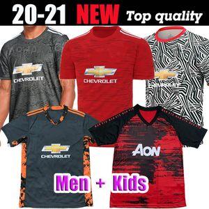 مانشستر 2020 2021 RASHFORD BRUNO FERNANDES لكرة القدم جيرسي MARTIAL JAMES بالقميص لكرة القدم قمصان موحدة UTD 20 21 رجل + الاطفال طقم معدات