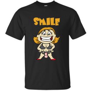 사용자 정의 꽝스러운 미소 Strapon 지배자 딜도 페깅 오쟁이 진 남편 하위 T 셔츠 2,019 사진 블랙 티 셔츠 안티 링클 느슨한