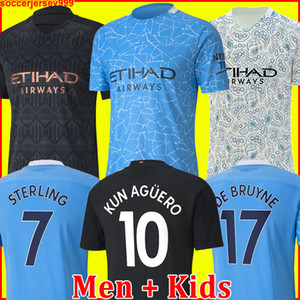 20 21 camiseta de fútbol Manchester City HOMBRE 2021 2020 G. JESÚS MAHREZ DE BRUYNE KUN AGUERO chandal de fútbol MENDY MAN uniformes hombres + kit de niños de la soccer jersey