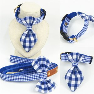 Fashion Plaid Dog Collars & Leashes Durable Padded Personalized Pet Collars Customized for Small Medium Large Dogs Cat All Seasons