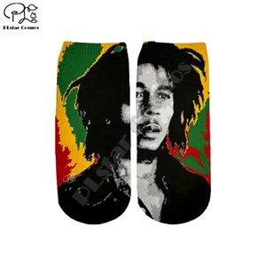 PLstar Cosmos Drop Shipping NewFashion Bob Marley Raggae HipHop хлопковые носки Смешные Harajuku 3DPrint мужской короткие носки S-2