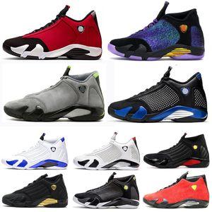 Air jordan retro 14 14s ВоздухИорданияРетро14 14s Мужская баскетбольная обувь Red thunder University Золотая конфета Varsity Royal Mens Спортивная обувь размер 7-13