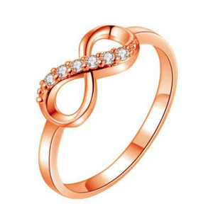 New 925 Sterling Silver Infinity Forever Love Finger Ring Women Girl S925 Silver Jewelry Wedding Gift