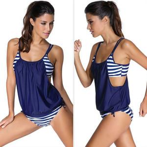 Sexcer Tankini del traje de baño Trajes de baño femenina más el tamaño de dos piezas Bikini de baño mujeres de Brasil 2020 Maillot De Baño