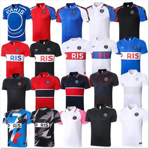 paris soccer jerseys 20201 paris training suit tracksuit Short Sleeve football shirt jerseys 2020 MBAPPE polo Adult kit