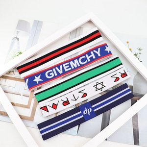 New boys girls sports fashion letters adult accessories head hair band Towel hair band Korean yoga running sweat-absorbing towel